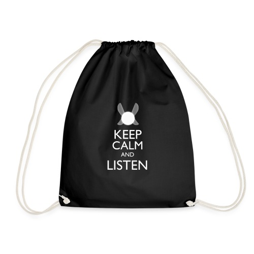 Zelda - Keep Clam & Listen - Drawstring Bag