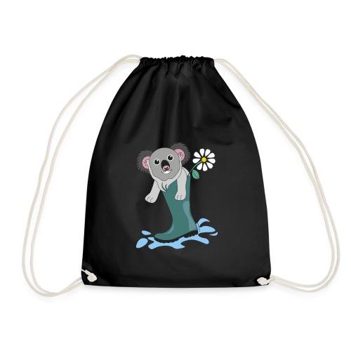 koala with rain boot - Drawstring Bag