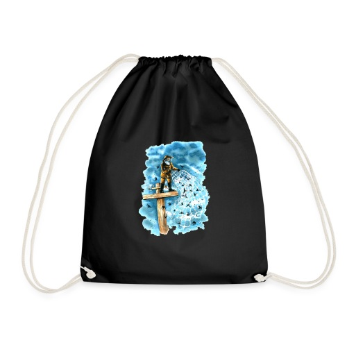 after the storm - Drawstring Bag