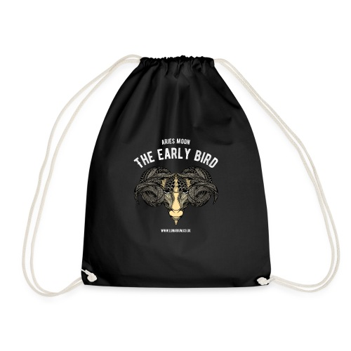 Aries Moon Dark - Drawstring Bag