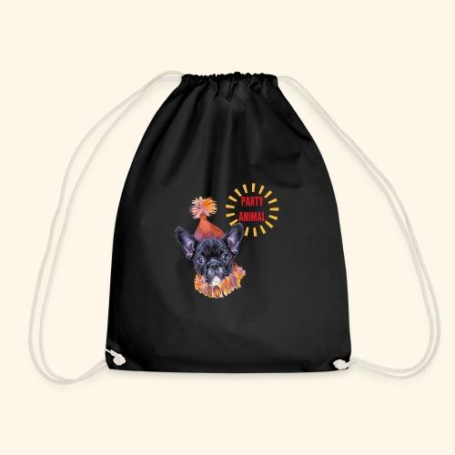 French Bulldog Party - Drawstring Bag