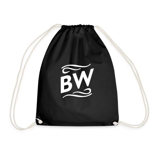 White BW logo - Gymnastikpåse
