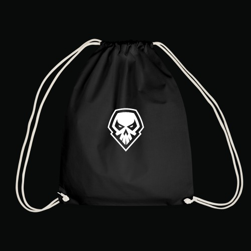 tank logo black - Drawstring Bag