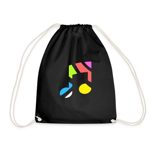 CurveRadioLogoWhite - Drawstring Bag