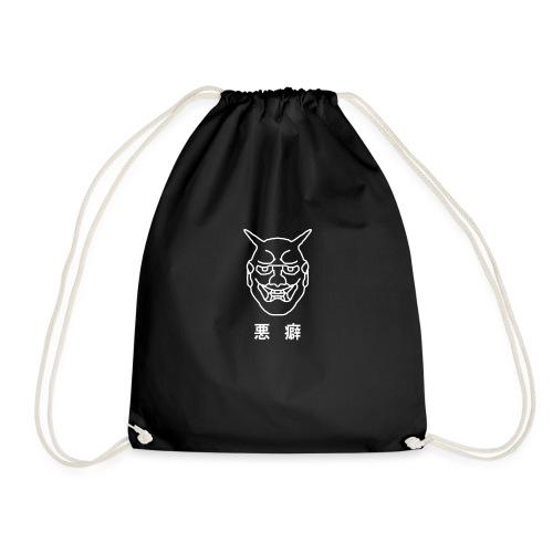 Japanese Demon Mask - Drawstring Bag