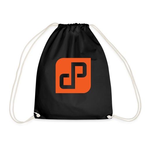 DP Orange (cutout) - Drawstring Bag