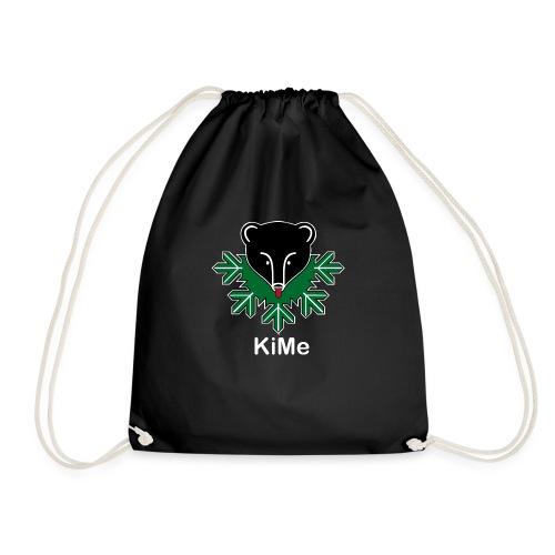 KiMe-logotuotteet valkoisella tekstilla - Jumppakassi