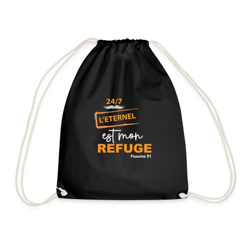 24 7 eternel mon refuge orange blanc - Sac de sport léger