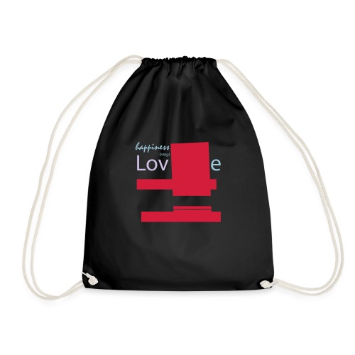 Love brings happiness - Drawstring Bag