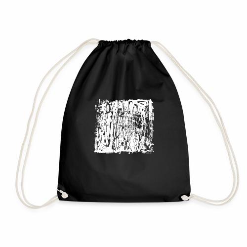 Paint Blob White - Drawstring Bag
