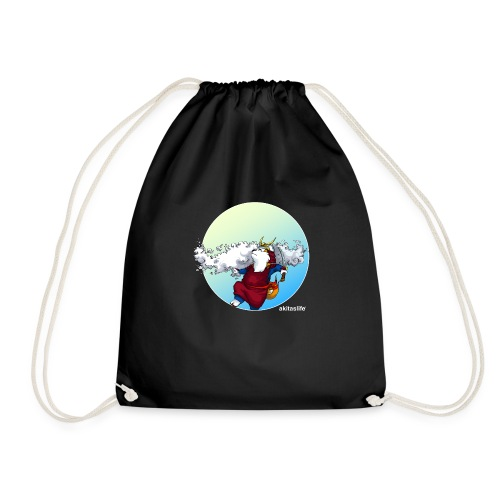 Akita Samurai Sky T-shirt - Drawstring Bag