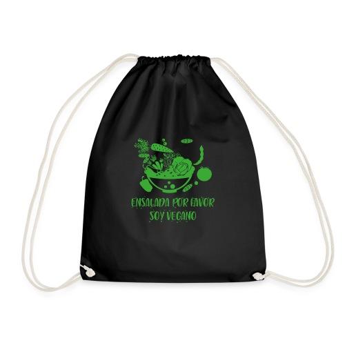 camiseta diseño vegano, vegetariano para hombre - Mochila saco
