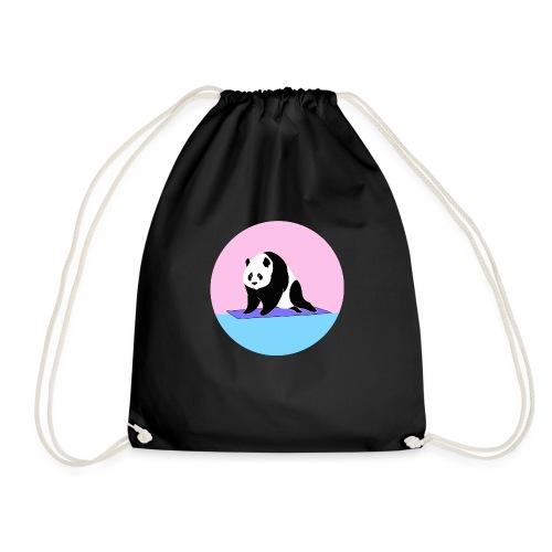 Yoga panda downward dog namaste - Drawstring Bag