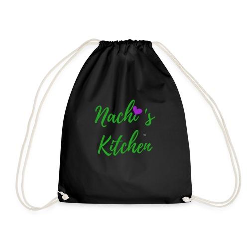 Nachi s Kitchen Logo - Drawstring Bag