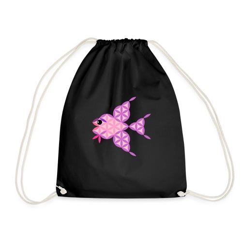 The Fish Of Life - Sacred Animals - Drawstring Bag