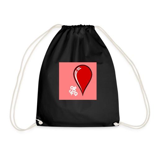 DBA Logo Drop Pink - Drawstring Bag
