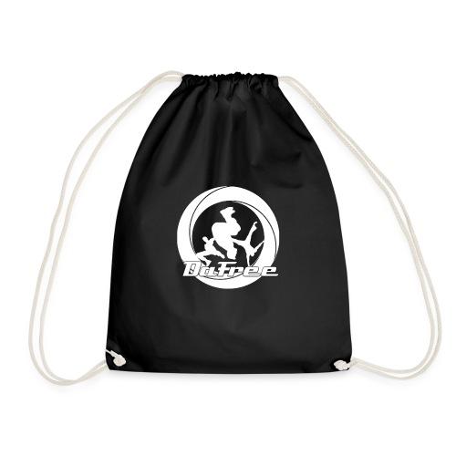 Big DaFree Logo White - Drawstring Bag