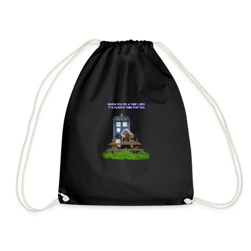 TIME AND SPACE AND TEA - Drawstring Bag