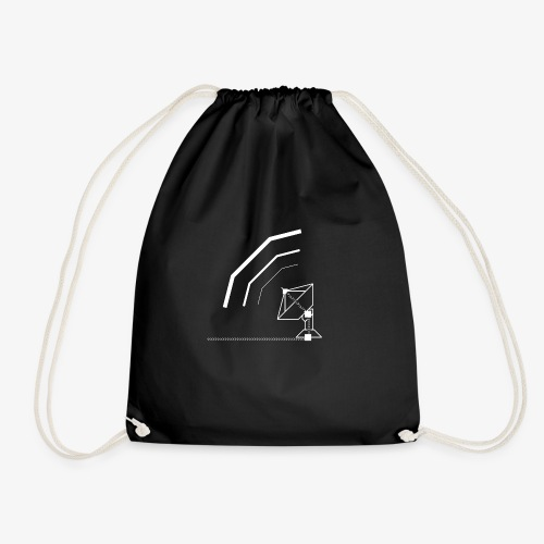 Calling All Broadcasts Satellite Dish T-shirt(Wome - Drawstring Bag