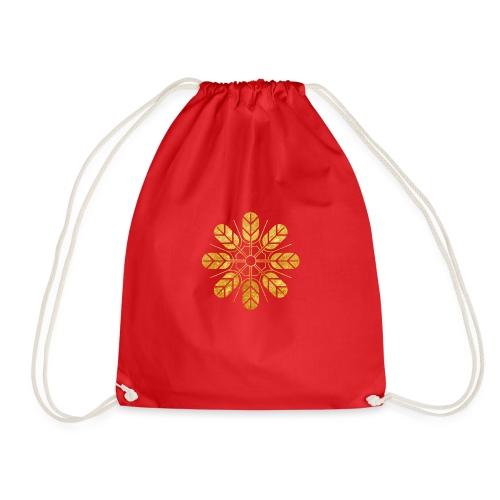 Inoue clan kamon in gold - Drawstring Bag