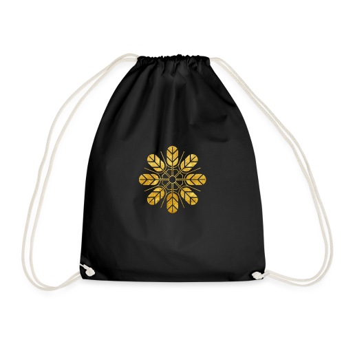 Inoue clan kamon in gold - Drawstring Bag