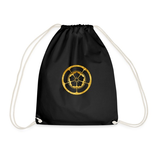 Oda Mon Japanese samurai clan in gold - Drawstring Bag
