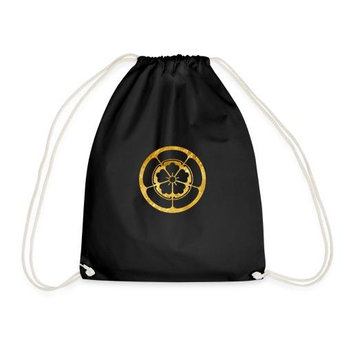 Oda Mon Japanese samurai clan in gold - Drawstring Bag