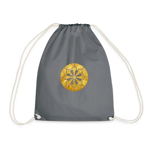Sanja Matsuri Komagata mon gold - Drawstring Bag
