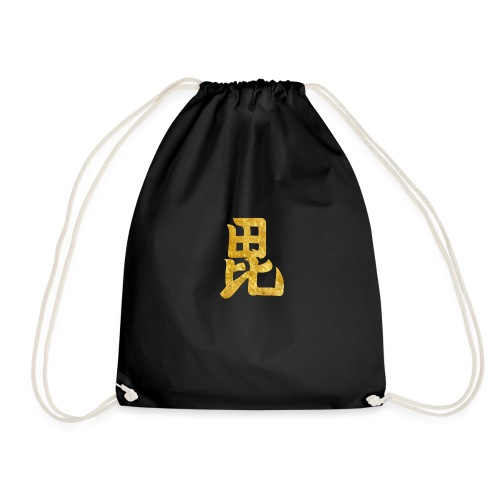 Uesugi Mon Japanese samurai clan in gold - Drawstring Bag
