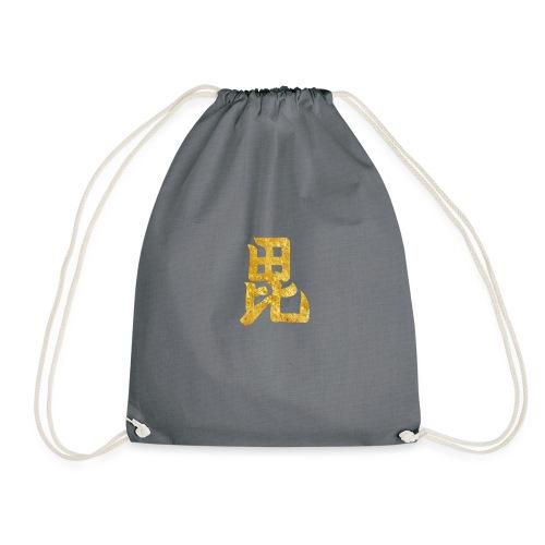 Uesugi Mon Japanese samurai clan in gold - Drawstring Bag