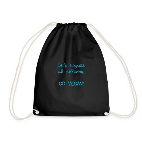 boycott suffering sky blue - Drawstring Bag