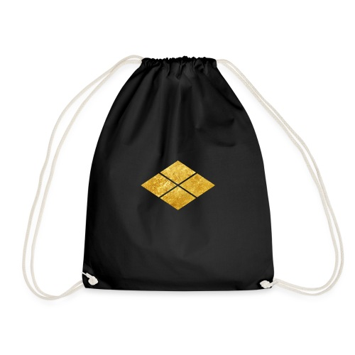 Takeda kamon Japanese samurai clan faux gold - Drawstring Bag