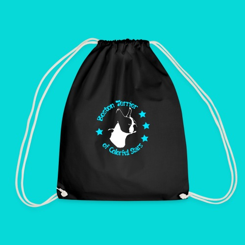 Boston Terrier of Colorful Stars Logo Türkis - Turnbeutel