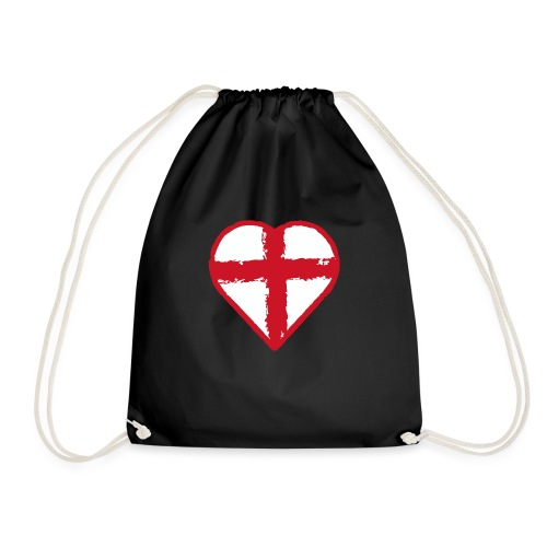 Heart St George England flag - Drawstring Bag