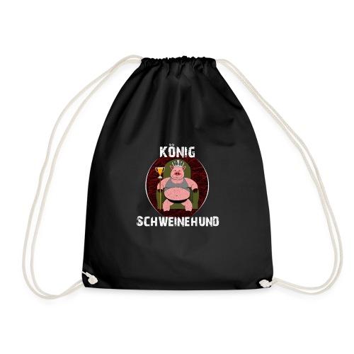 König Schweinehund BLACK - Drawstring Bag