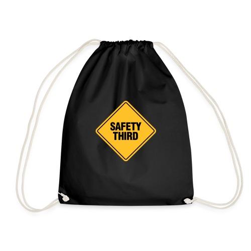 SAFETY THIRD - Drawstring Bag