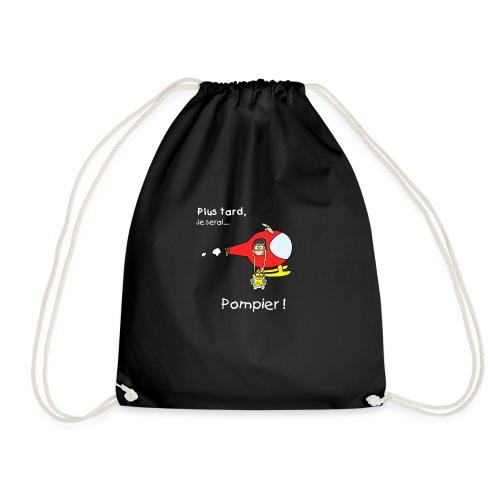 t-shirt grossesse futur pompier - Drawstring Bag