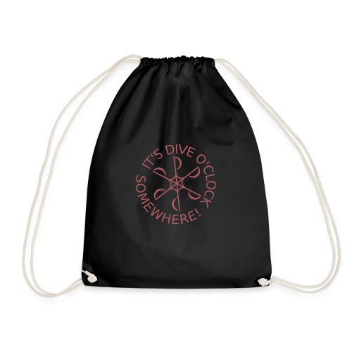 Dive o clock Dark Pink - Drawstring Bag