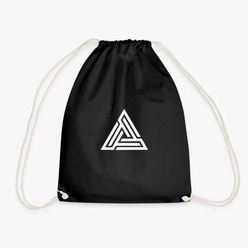 White Triangle Logo | Sweatshirt - Drawstring Bag