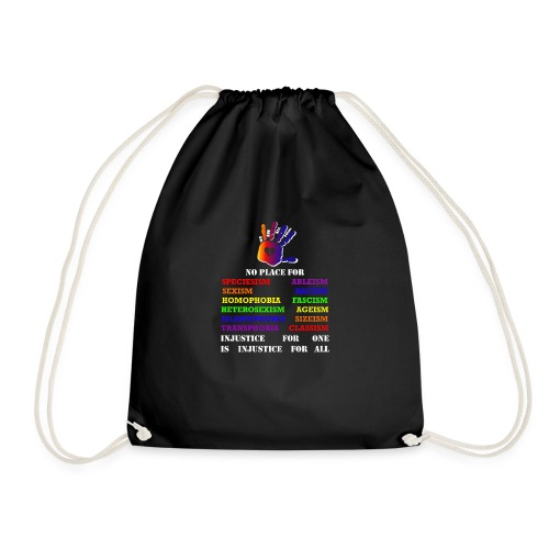 Fight against inequality! Intersectional veganism - Drawstring Bag
