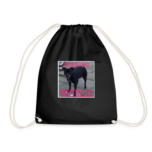 morning world - Drawstring Bag