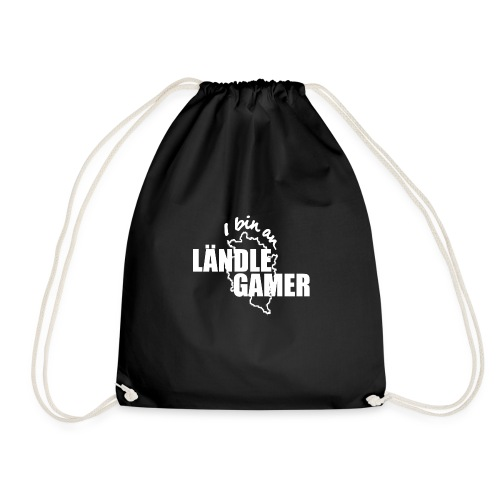 I bin an Ländle Gamer / weiss - Turnbeutel