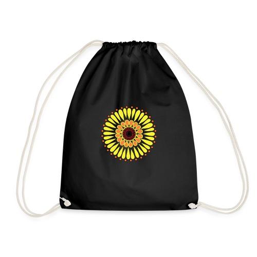 Yellow Sunflower Mandala - Drawstring Bag