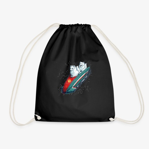 Arctic Fox Bobsleigh - Drawstring Bag