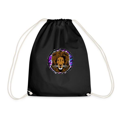 Neon Lion Womens Tee Small Image - Drawstring Bag
