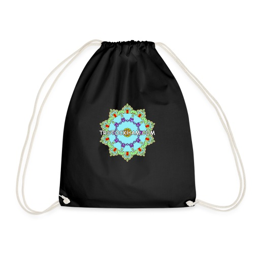 Enjoyably Quirky Colouring Book Design 9 - Drawstring Bag