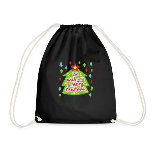 We wish you a Merry Christmas - Drawstring Bag