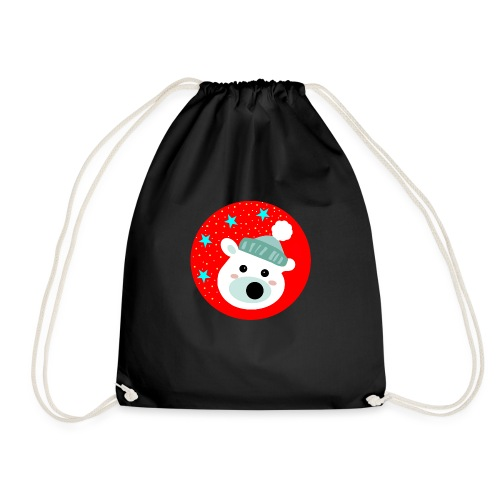 Winter bear - Drawstring Bag