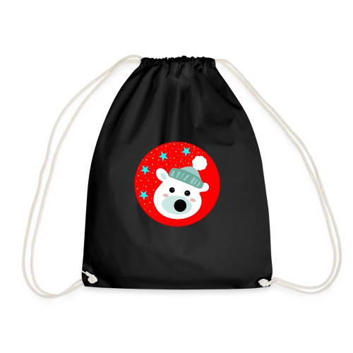 Winter bear - Drawstring Bag
