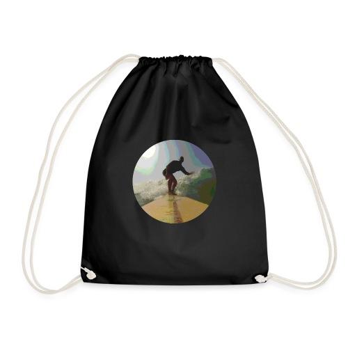 Isle_of_Surfing - Drawstring Bag